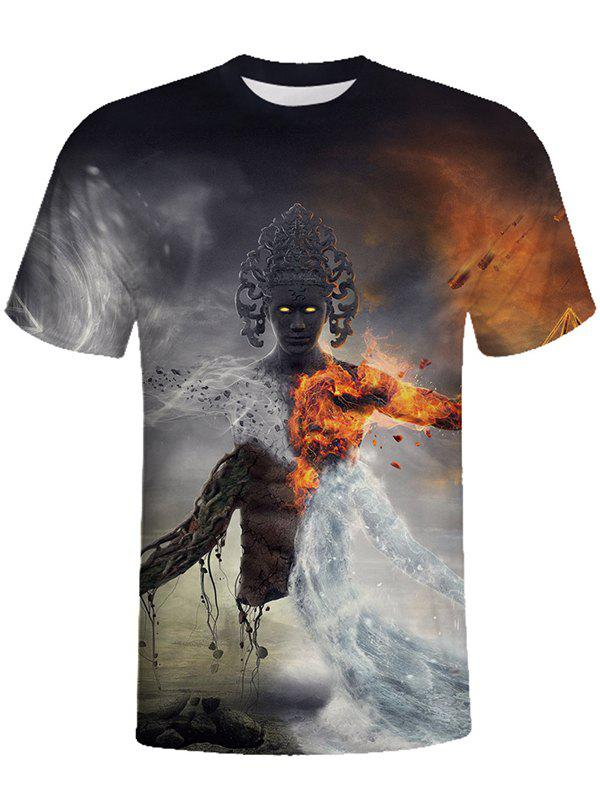 Online 3D Round Neck Short-sleeved Man T-shirt