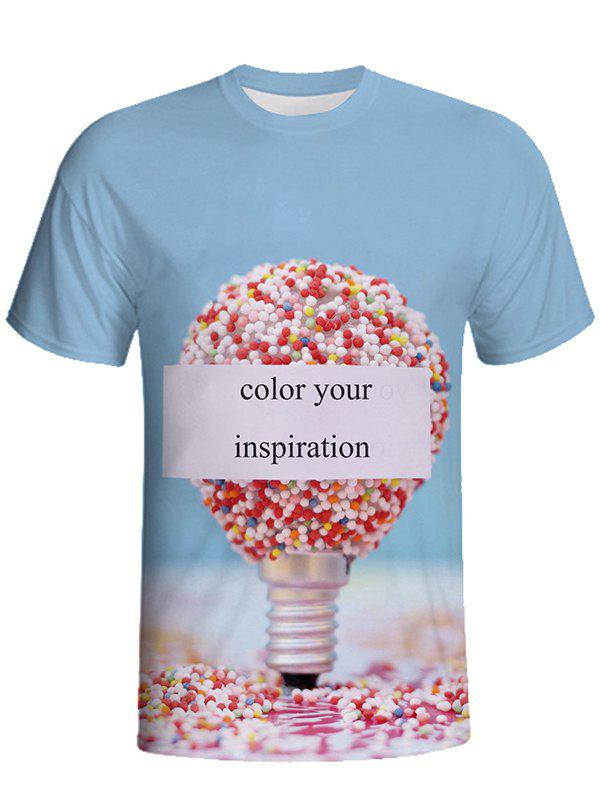 Outfit 3D Printed Round Neck Short-sleeved T-shirt