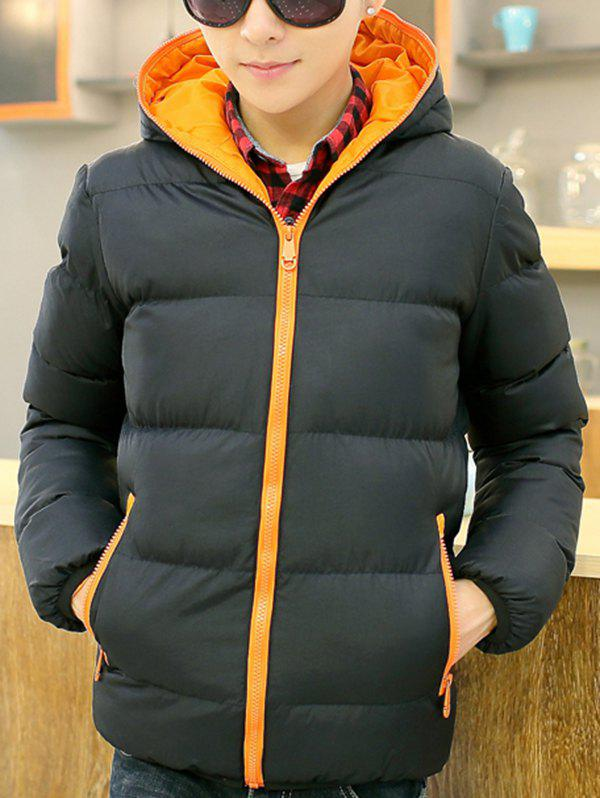 New Men's Fashion Casual Hooded Parka