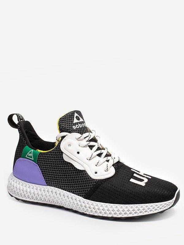 Store Color Block Embroidery Running Sneakers