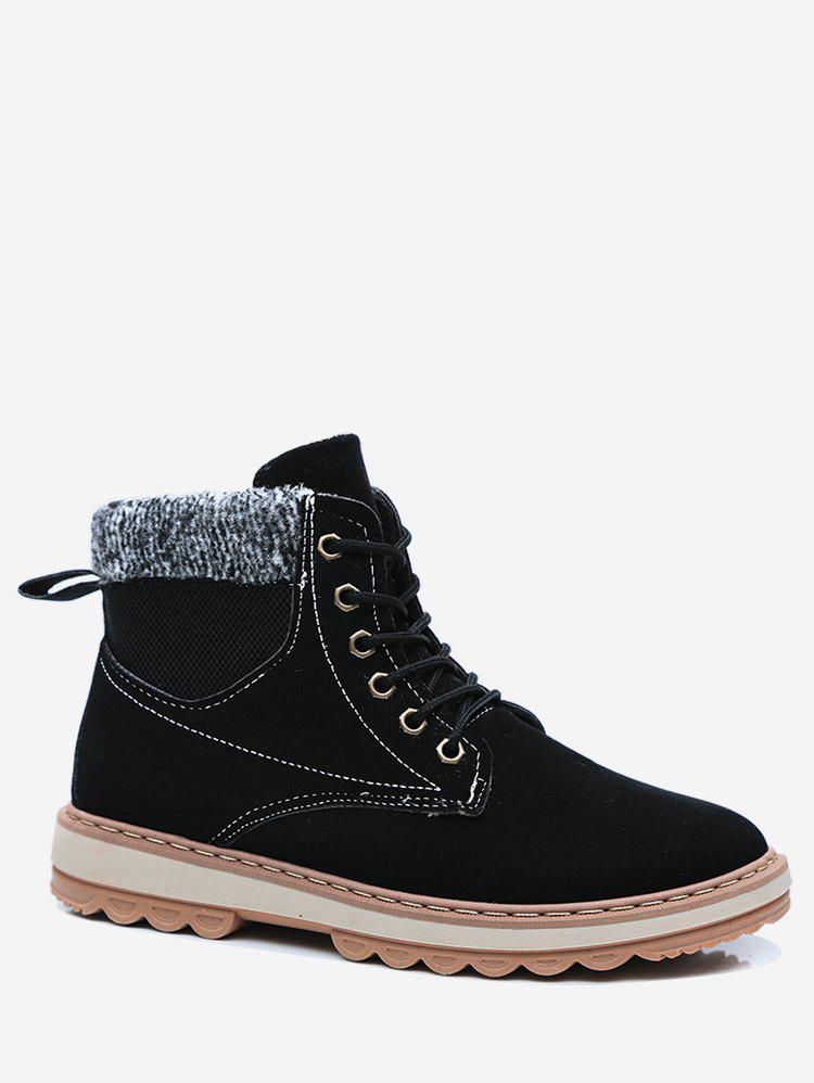 Latest Fur Lined Patch Ankle Boots