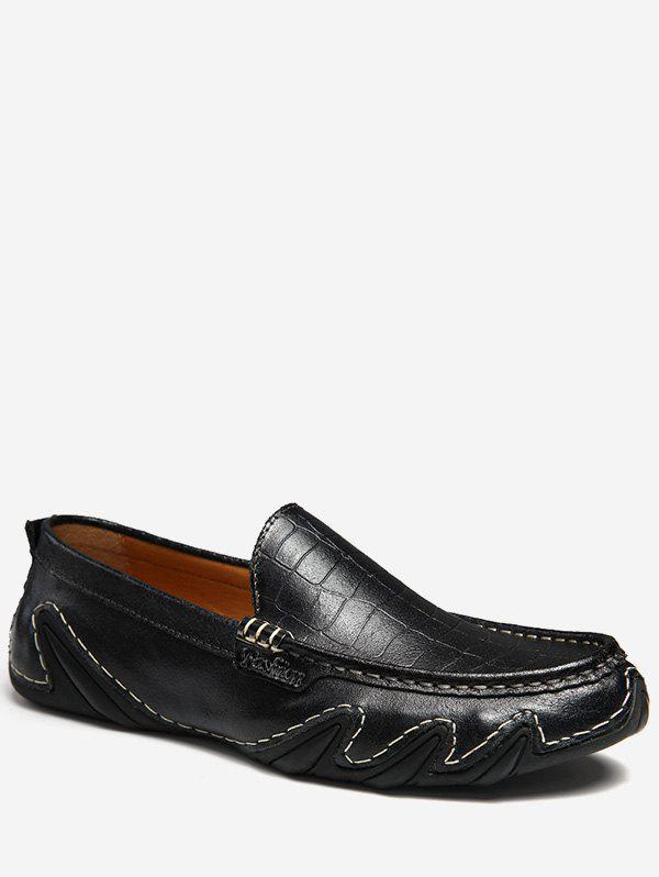 Buy Wave Sewing Faux Leather Slip On Shoes