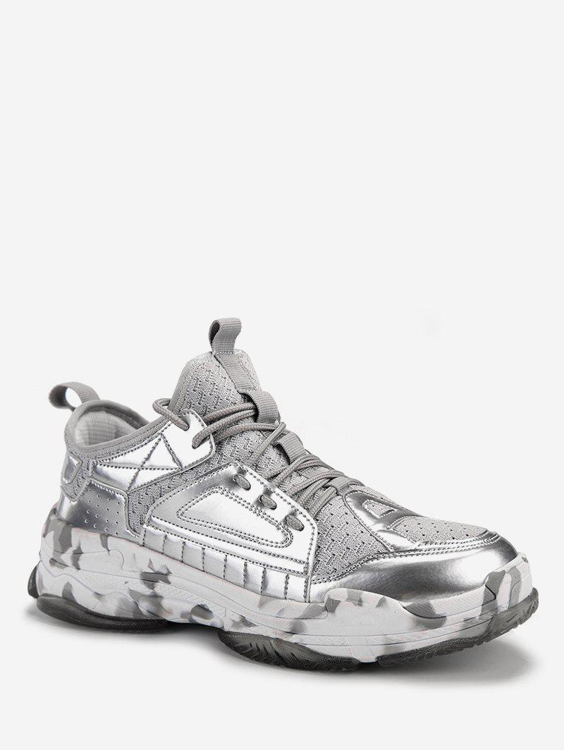 Cheap Patent Leather Trim Athletic Sneakers