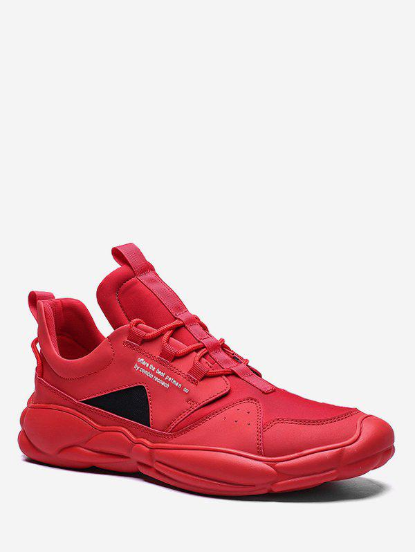 Trendy Contrast Triangle Letter Sport Sneakers