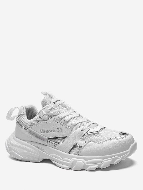 Buy Letter Platform Lace Up Athletic Sneakers