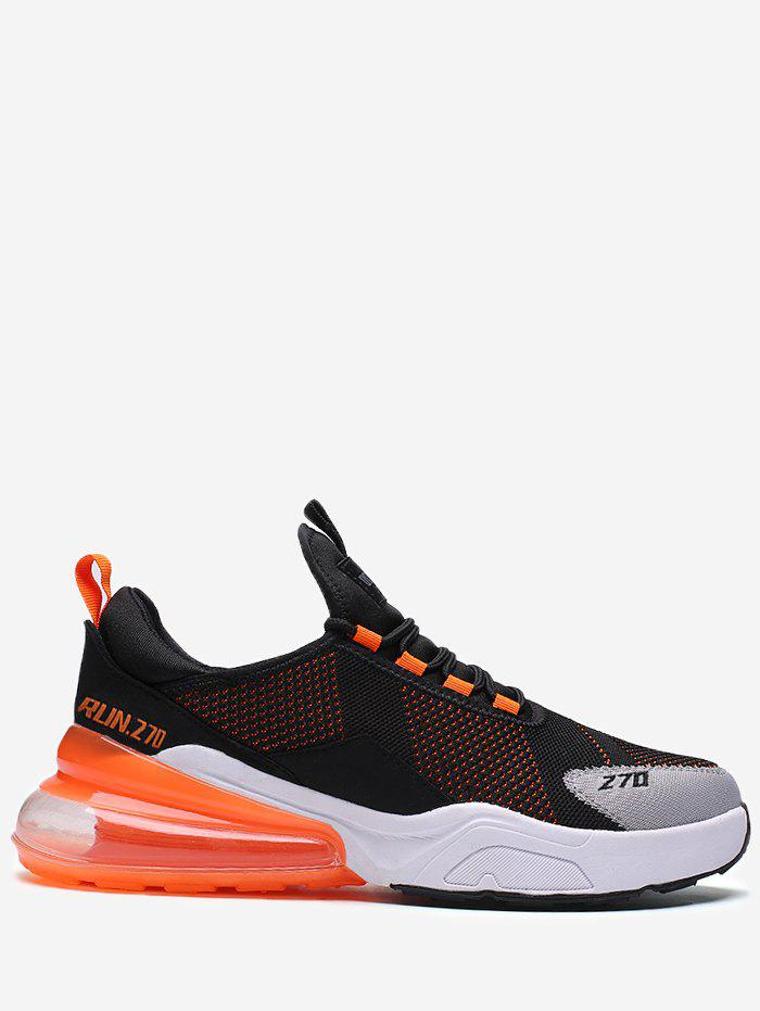 Cheap Color Block Knitted Running Sneakers