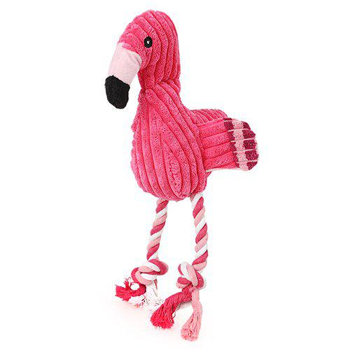 Outfits SQ033323 Pulling Velvet Flamingo Shape Toy