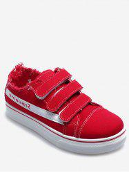 Hook Loop Strap Canvas Sneakers -