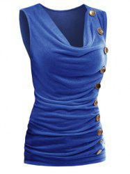 V-neck Sleeveless Irregular Slim Women's T-shirt -