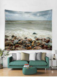 Seaside Stones Print Tapestry Wall Hanging Art Decoration -
