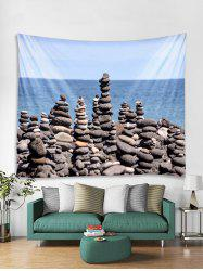 Seaside Stones Print Tapestry Wall Hanging Decoration -