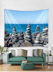 Seaside Stones Tower Print Tapestry Wall Hanging Art Decor -