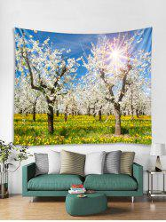 Flower Tree Forest Print Tapestry Wall Hanging Art Decoration -