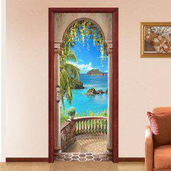 Creative Personality Beautiful Sea Door Sticker 2pcs -