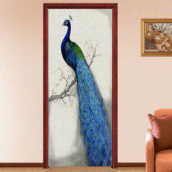 Creative Personality Peacock Door Sticker -