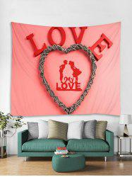 Valentines Day Love Heart Print Tapestry Wall Hanging Art Decoration -