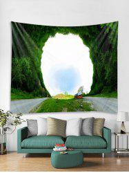 3D Grass Hole Printed Tapestry Art Decoration -