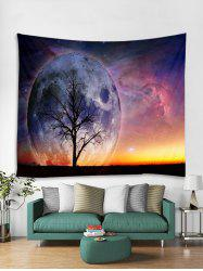 Starry Sky Tree Print Tapestry Art Decoration -