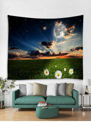 Sunset Flower Printed Tapestry Art Decoration -