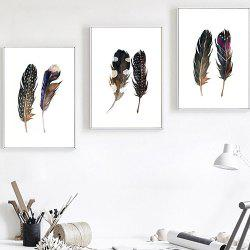 Feather Decorative Painting for Home Decoration 3pcs -