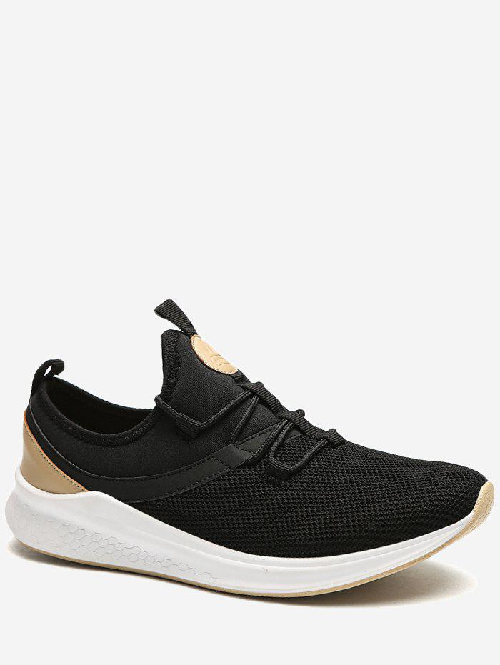 Fashion Lace Up Mesh Panel Sneakers