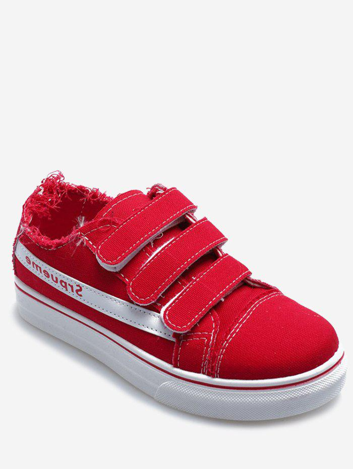 Shop Hook Loop Strap Canvas Sneakers