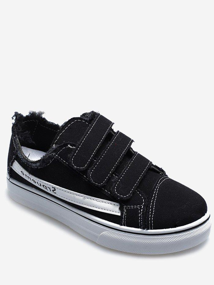 Outfits Hook Loop Strap Canvas Sneakers