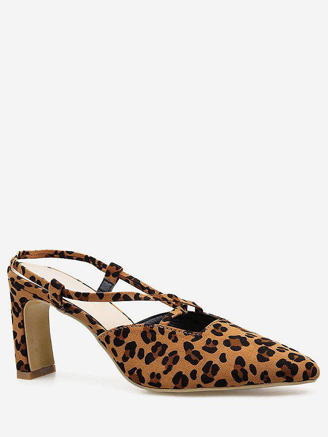New Leopard Cut Out Pointed Toe Pumps