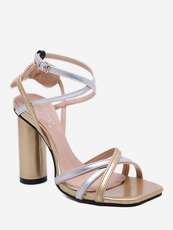 Shops Strappy Chunky Heel Sandals