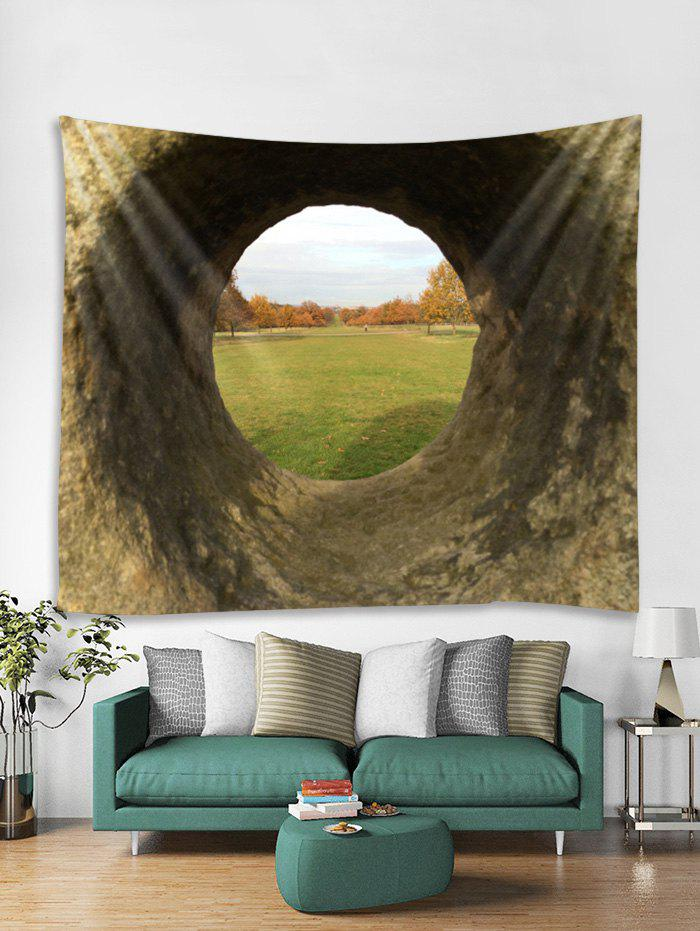 Trendy Hole Grasslands Print Tapestry Wall Hanging Art Decoration