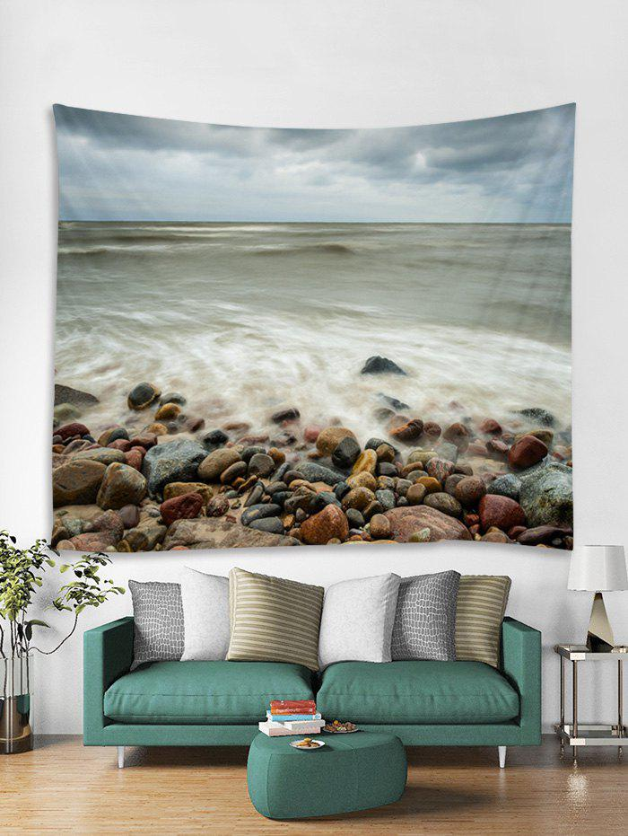 Latest Seaside Stones Print Tapestry Wall Hanging Art Decoration
