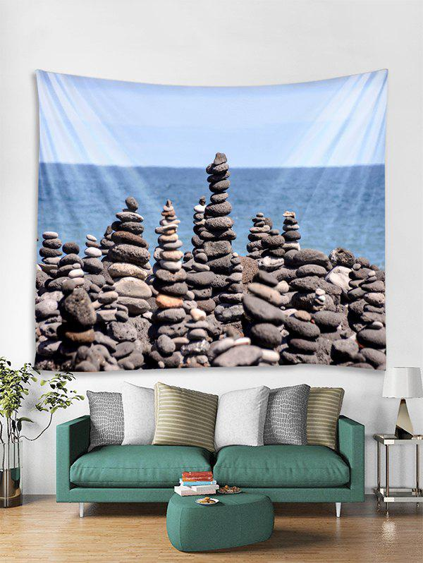 Fashion Seaside Stones Print Tapestry Wall Hanging Decoration