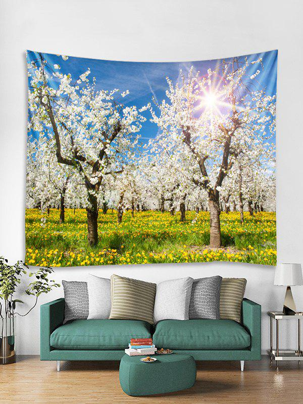 Discount Flower Tree Forest Print Tapestry Wall Hanging Art Decoration