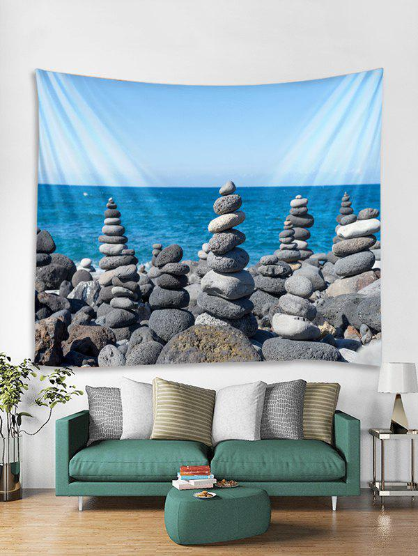 Discount Seaside Stones Tower Print Tapestry Wall Hanging Art Decor
