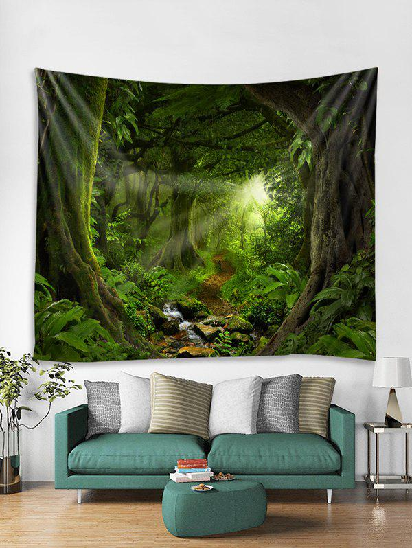 Online Forest Trail Print Tapestry Wall Hanging Art Decor