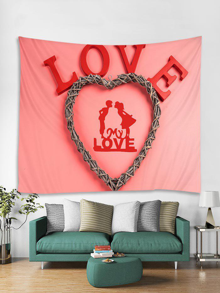 Sale Valentines Day Love Heart Print Tapestry Wall Hanging Art Decoration