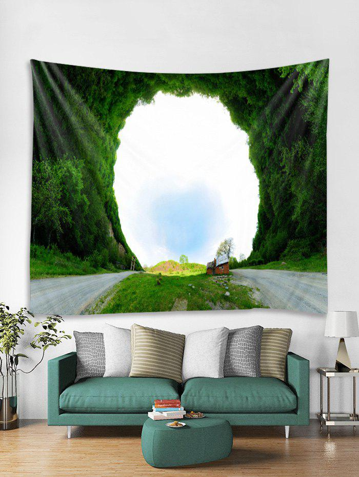 3D Grass Hole Printed Tapestry Art Decoration