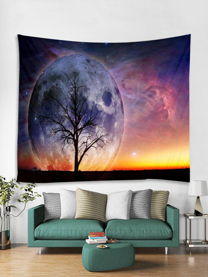 Trendy Starry Sky Tree Print Tapestry Art Decoration