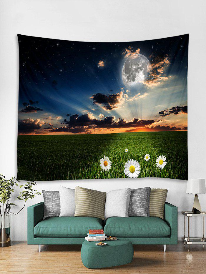 Discount Sunset Flower Printed Tapestry Art Decoration