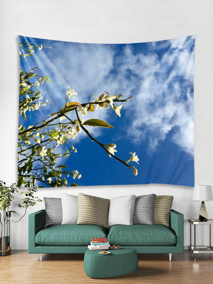 Affordable Floral Sky Printed Tapestry Art Decoration