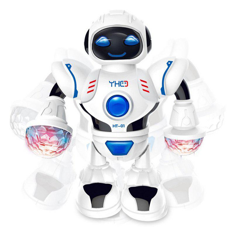 Fancy Electric Dancing Robot Toy LED Light Electric Musical Action Figures for Child Birthday Gift