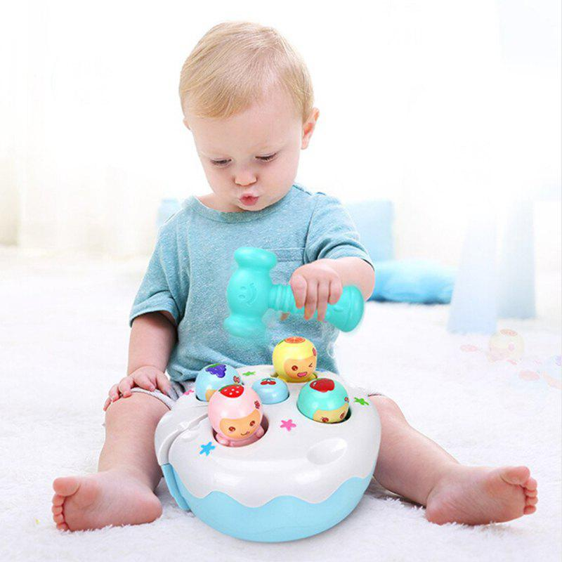 Fashion Electric Cake Hamster Game Console with Sound Light  Early Education Machine Toy