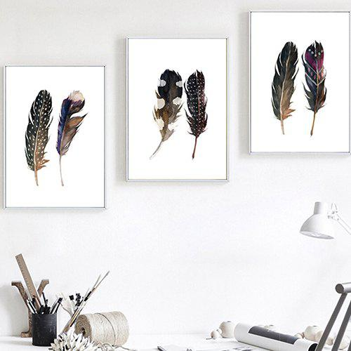 Buy Feather Decorative Painting for Home Decoration 3pcs