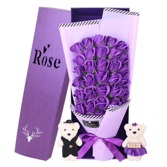 Outfits 33 Rose Soap Bouquet Gift Box for Valentine's Day