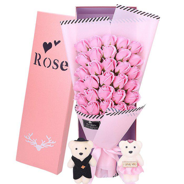 Fashion 33 Rose Soap Bouquet Gift Box for Valentine's Day