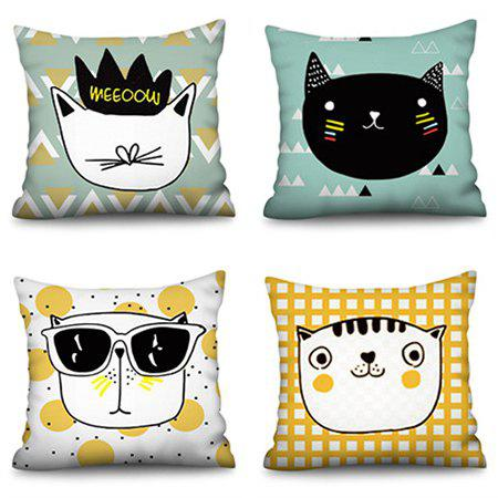 Shops Polyester Faux Linen Printing Pillowcase 45 * 45cm 4pcs