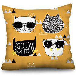 Valentine Day Series Digital Printing Square Pillowcase Sofa Cushion Cover 45 * 45cm -