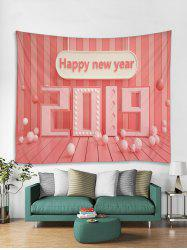 Happy New Year 2019 Print Tapestry Wall Hanging Art Decoration -