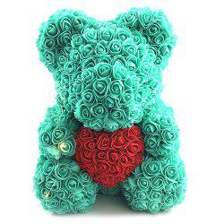Valentines Birthday Gift Rose Color Matching Flower Bear 40cm -