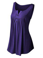Solid Color Pleated Sleeveless Casual Women's Vest -